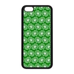 Gerbera Daisy Vector Tile Pattern Apple Iphone 5c Seamless Case (black)