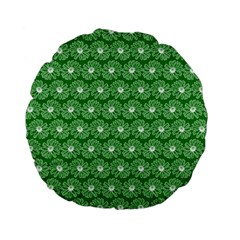 Gerbera Daisy Vector Tile Pattern Standard 15  Premium Flano Round Cushions