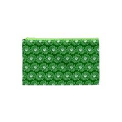 Gerbera Daisy Vector Tile Pattern Cosmetic Bag (xs)