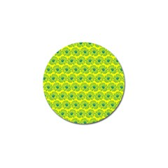 Gerbera Daisy Vector Tile Pattern Golf Ball Marker