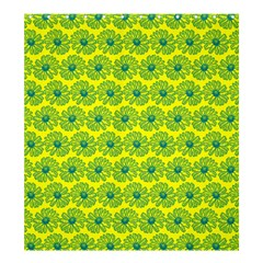 Gerbera Daisy Vector Tile Pattern Shower Curtain 66  x 72  (Large)