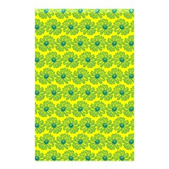 Gerbera Daisy Vector Tile Pattern Shower Curtain 48  x 72  (Small)