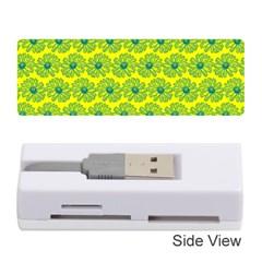 Gerbera Daisy Vector Tile Pattern Memory Card Reader (stick)
