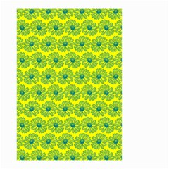 Gerbera Daisy Vector Tile Pattern Small Garden Flag (Two Sides)