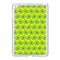 Gerbera Daisy Vector Tile Pattern Apple Ipad Mini Case (white)