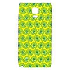 Gerbera Daisy Vector Tile Pattern Galaxy Note 4 Back Case