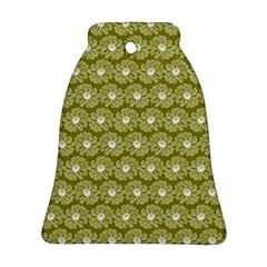 Gerbera Daisy Vector Tile Pattern Ornament (Bell)