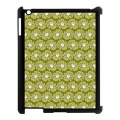 Gerbera Daisy Vector Tile Pattern Apple Ipad 3/4 Case (black)