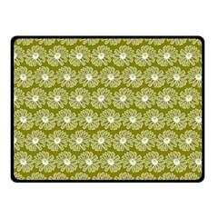 Gerbera Daisy Vector Tile Pattern Double Sided Fleece Blanket (small)