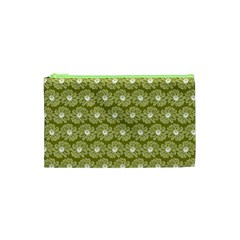Gerbera Daisy Vector Tile Pattern Cosmetic Bag (xs)