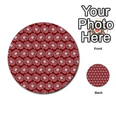 Gerbera Daisy Vector Tile Pattern Multi-purpose Cards (Round)