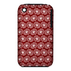 Gerbera Daisy Vector Tile Pattern Apple Iphone 3g/3gs Hardshell Case (pc+silicone)