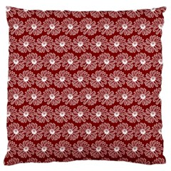 Gerbera Daisy Vector Tile Pattern Large Flano Cushion Cases (One Side)