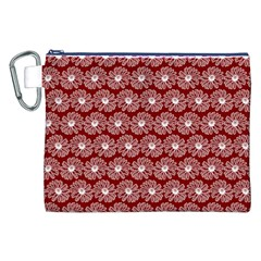 Gerbera Daisy Vector Tile Pattern Canvas Cosmetic Bag (XXL)