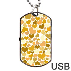 Heart 2014 0904 Dog Tag USB Flash (One Side)