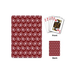 Gerbera Daisy Vector Tile Pattern Playing Cards (mini)