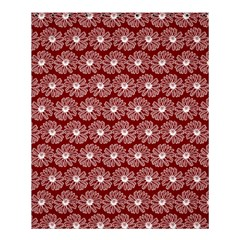 Gerbera Daisy Vector Tile Pattern Shower Curtain 60  x 72  (Medium)