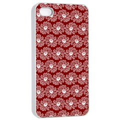 Gerbera Daisy Vector Tile Pattern Apple iPhone 4/4s Seamless Case (White)