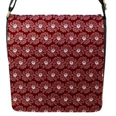Gerbera Daisy Vector Tile Pattern Flap Messenger Bag (s)