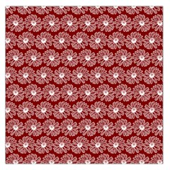 Gerbera Daisy Vector Tile Pattern Large Satin Scarf (Square)
