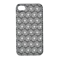 Gerbera Daisy Vector Tile Pattern Apple Iphone 4/4s Hardshell Case With Stand