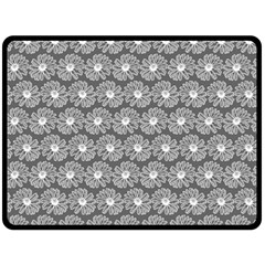 Gerbera Daisy Vector Tile Pattern Double Sided Fleece Blanket (Large)