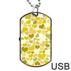 Heart 2014 0905 Dog Tag Usb Flash (one Side)