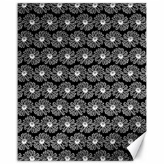 Black And White Gerbera Daisy Vector Tile Pattern Canvas 16  X 20
