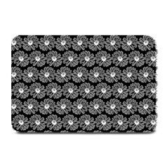 Black And White Gerbera Daisy Vector Tile Pattern Plate Mats