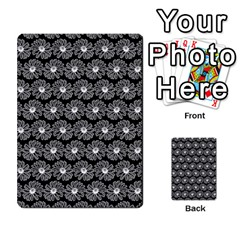 Black And White Gerbera Daisy Vector Tile Pattern Multi Purpose Cards (rectangle)