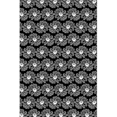 Black And White Gerbera Daisy Vector Tile Pattern 5.5  x 8.5  Notebooks