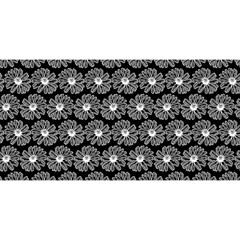Black And White Gerbera Daisy Vector Tile Pattern YOU ARE INVITED 3D Greeting Card (8x4)