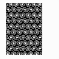 Black And White Gerbera Daisy Vector Tile Pattern Large Garden Flag (two Sides)