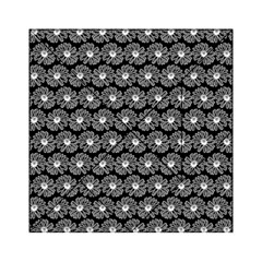 Black And White Gerbera Daisy Vector Tile Pattern Acrylic Tangram Puzzle (6  x 6 )