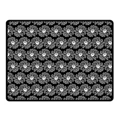 Black And White Gerbera Daisy Vector Tile Pattern Double Sided Fleece Blanket (Small)