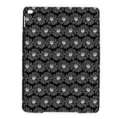 Black And White Gerbera Daisy Vector Tile Pattern Ipad Air 2 Hardshell Cases