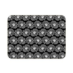 Black And White Gerbera Daisy Vector Tile Pattern Double Sided Flano Blanket (mini)