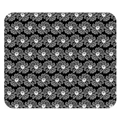 Black And White Gerbera Daisy Vector Tile Pattern Double Sided Flano Blanket (small)