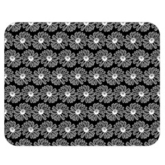 Black And White Gerbera Daisy Vector Tile Pattern Double Sided Flano Blanket (medium)