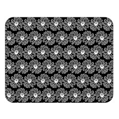 Black And White Gerbera Daisy Vector Tile Pattern Double Sided Flano Blanket (large)