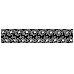 Black And White Gerbera Daisy Vector Tile Pattern Flano Scarf (Large)
