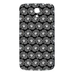 Black And White Gerbera Daisy Vector Tile Pattern Samsung Galaxy Mega I9200 Hardshell Back Case