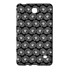 Black And White Gerbera Daisy Vector Tile Pattern Samsung Galaxy Tab 4 (7 ) Hardshell Case