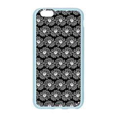 Black And White Gerbera Daisy Vector Tile Pattern Apple Seamless iPhone 6 Case (Color)