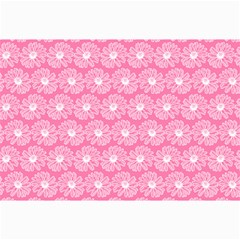 Pink Gerbera Daisy Vector Tile Pattern Collage 12  x 18