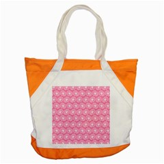 Pink Gerbera Daisy Vector Tile Pattern Accent Tote Bag