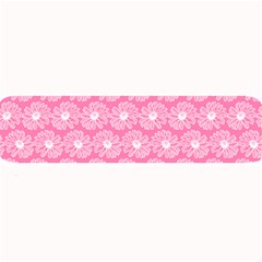 Pink Gerbera Daisy Vector Tile Pattern Large Bar Mats
