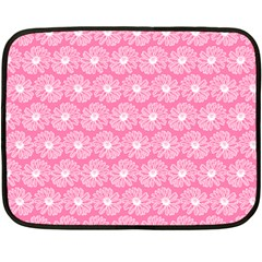 Pink Gerbera Daisy Vector Tile Pattern Fleece Blanket (Mini)