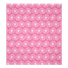 Pink Gerbera Daisy Vector Tile Pattern Shower Curtain 66  x 72  (Large)