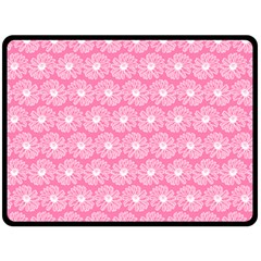Pink Gerbera Daisy Vector Tile Pattern Fleece Blanket (large)